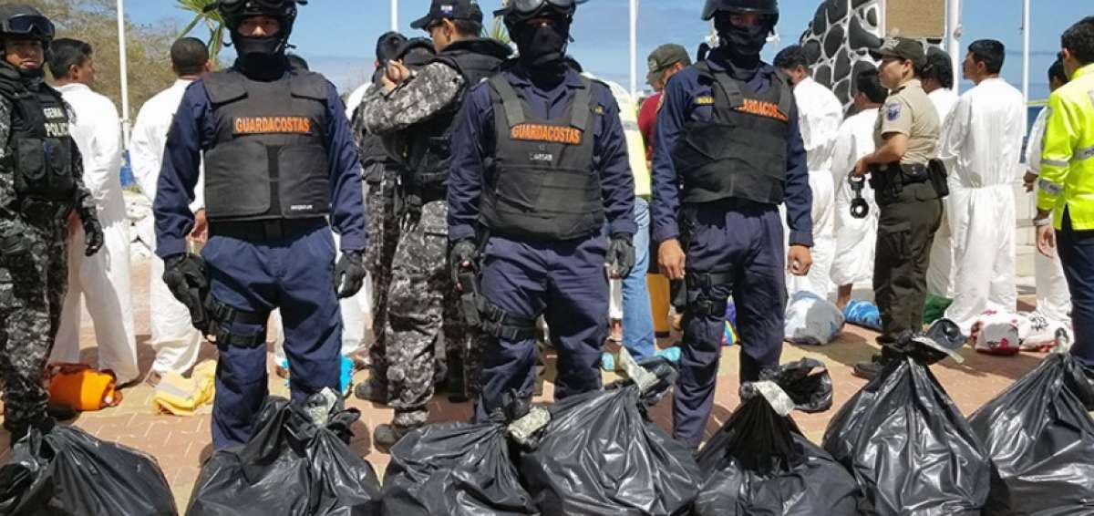 1.6 Tons of Drugs Seized Northwest of the Galapagos Islands