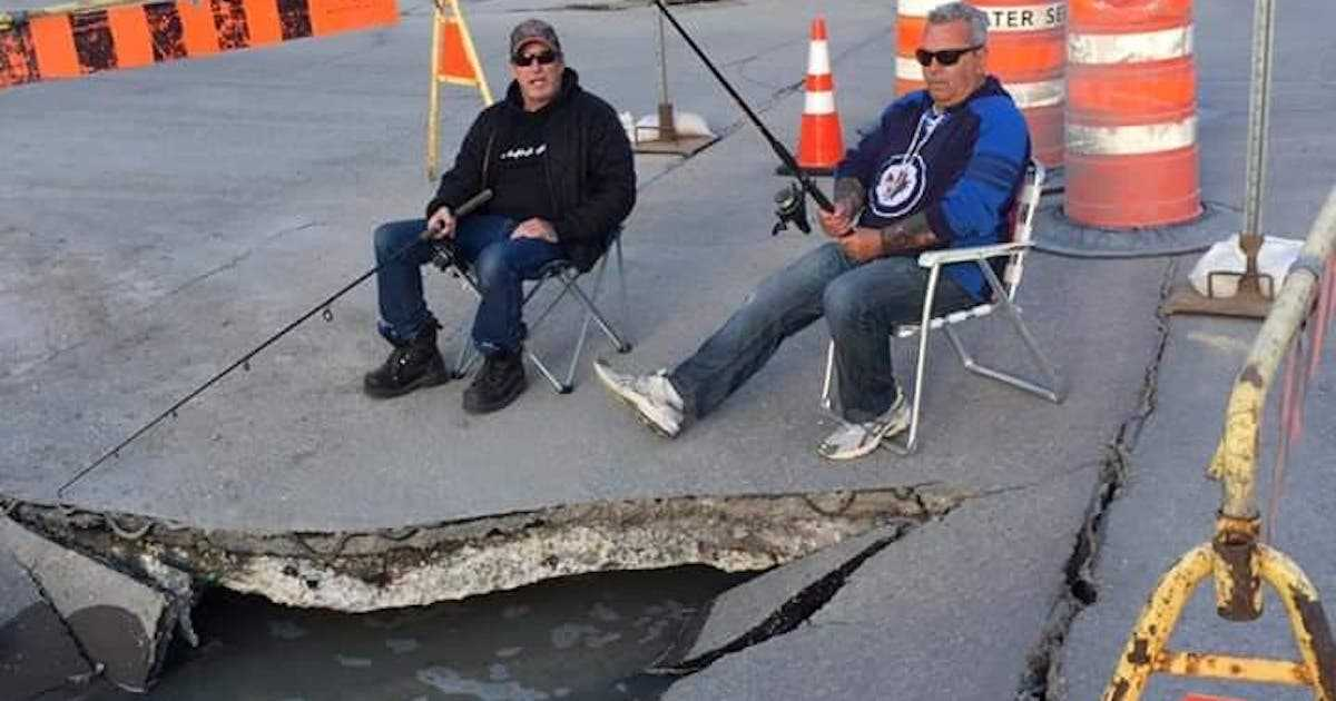 A Sinkhole In Canada So Big That Fishermen Are Fishing Out Of It