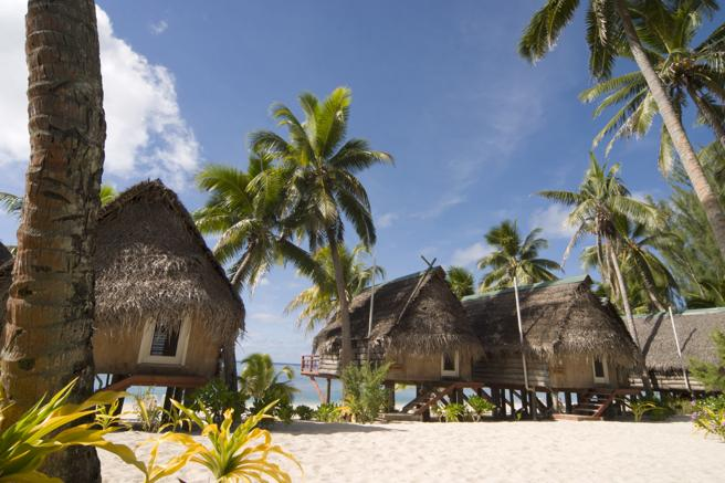 A typical resort of the Cook Islands