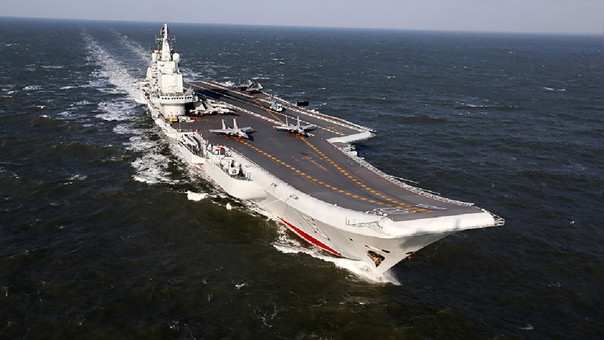 An aircraft carrier of the Chinese Navy