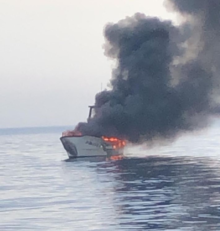 Another Shipwreck Caused By Fire On Board Of A Bottom Trawler Built By ASFIBE