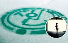 Are They Trying to Communicate With Us? Or Marking Their Territory? Huge Symbol Appears in Frozen Lake of China