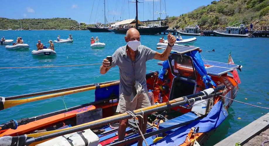 At 72, He Crosses The Atlantic For A Fourth Time By Rowing!