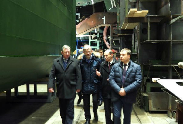 At the Onega Shipbuilding-Ship-Repair Factory They Will Build a New Ground-Toes Scow