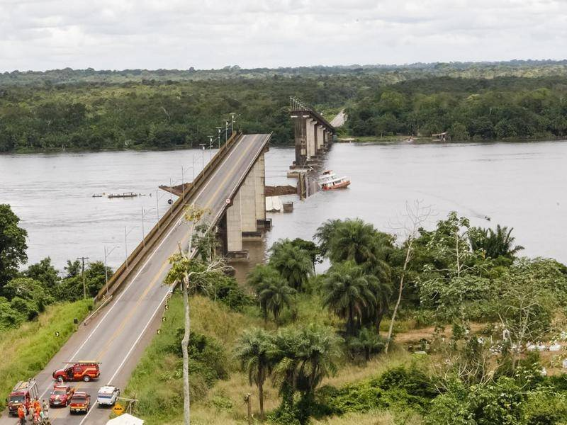 Bridge in Brazil Collapses After Being Struck by Ferry Leaving Cars Plunging into Water