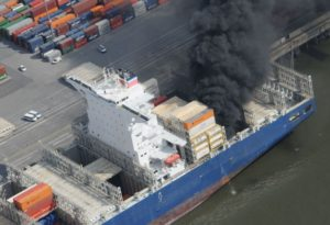 CCNI Arauco ship fire