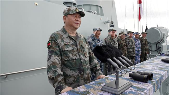 CHINESE PRESIDENT XI JINPING ATTENDS A HUGE NAVAL EXERCISE IN THE SOUTH CHINA SEA