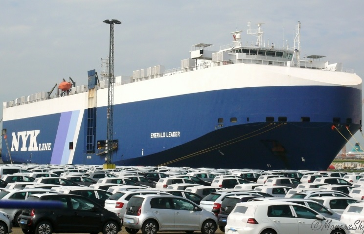 NYK's car carrier Emerald Leader caught fire in Bremerhaven