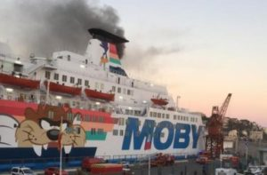 Ferry Moby Zaza fire