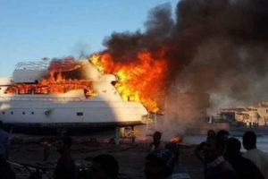 Fire in Egypt