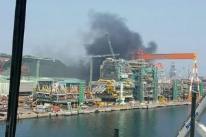 Geoje shipyard fire
