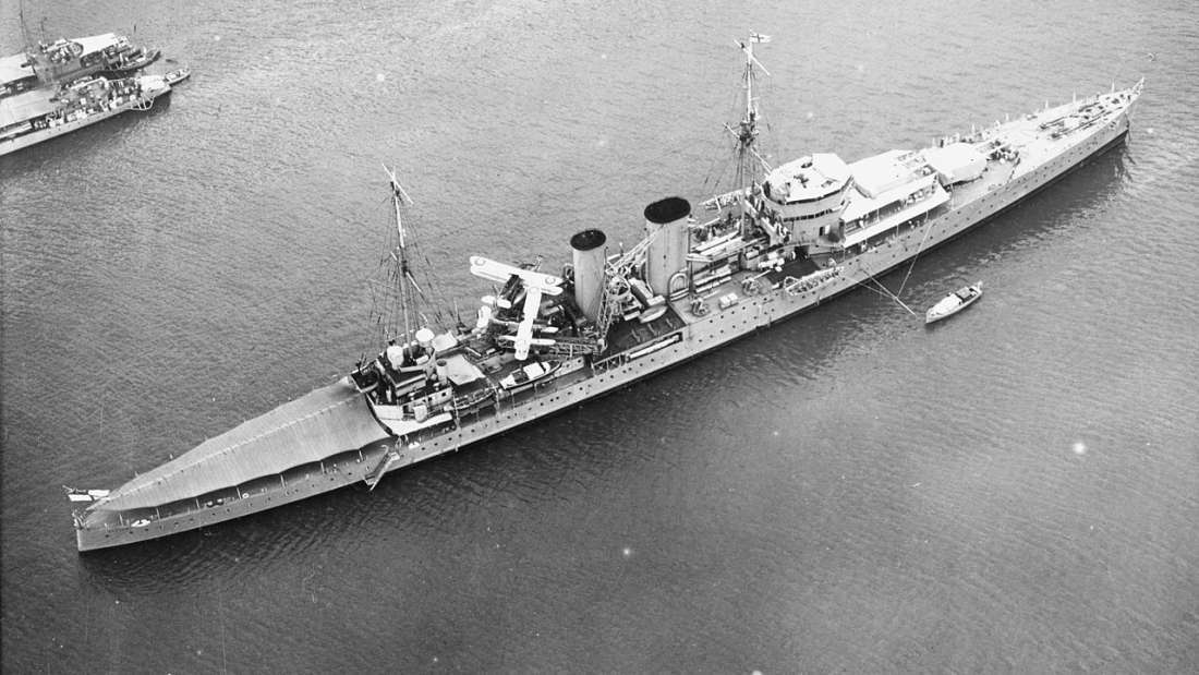 HMS Exeter Sunken WW2 Ship