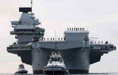 Royal Navy's Biggest-Ever Warship, HMS Queen Elizabeth, Commissioned in Portsmouth