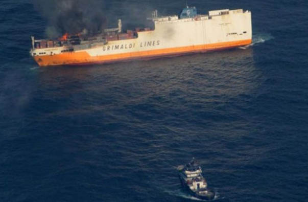 Insurers: Every Two Months, Burns Some Large Container Ship