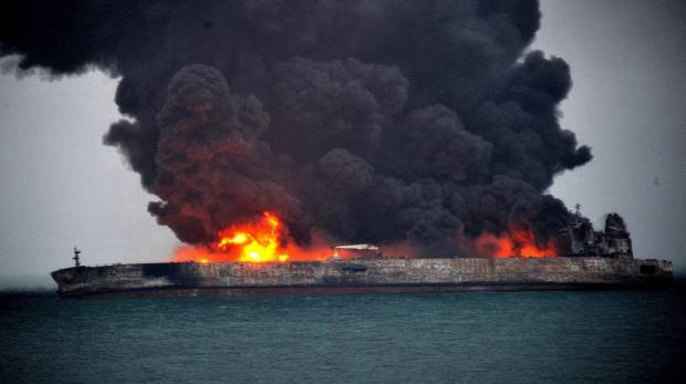 Iranian Sanchi collided with ship from Hong Kong