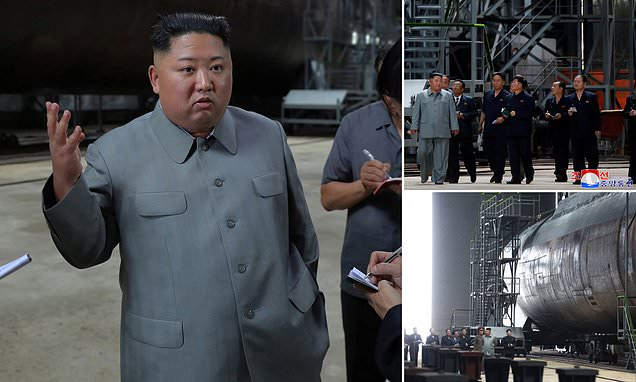 Kim Jong-Un Inspects New Submarine And Puts Pressure On The US