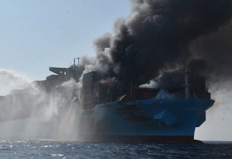 Maersk Honam who suffered a fire in the Arabian Sea dies