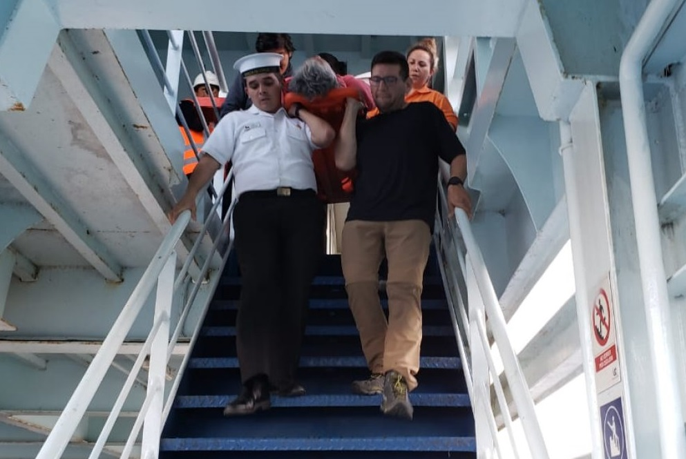 Maritime Authority Evacuated Woman After Accident on Board of Ferry in Southern Area