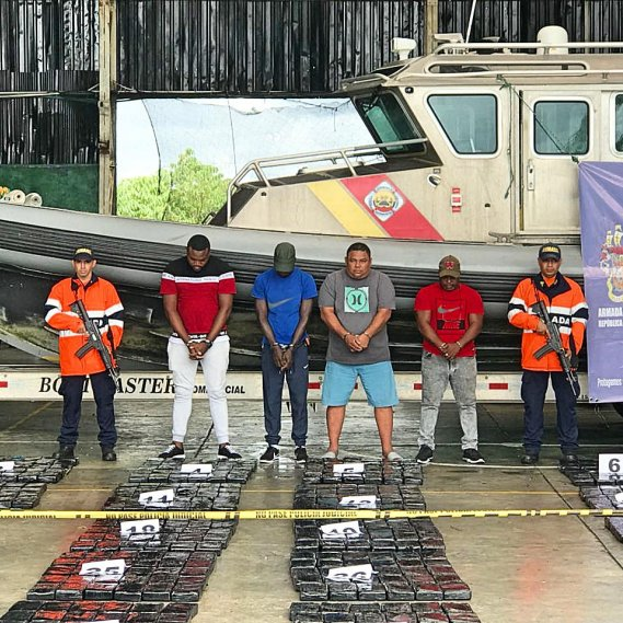 More Than One Ton of Alkaloid Seized in the Colombian Pacific
