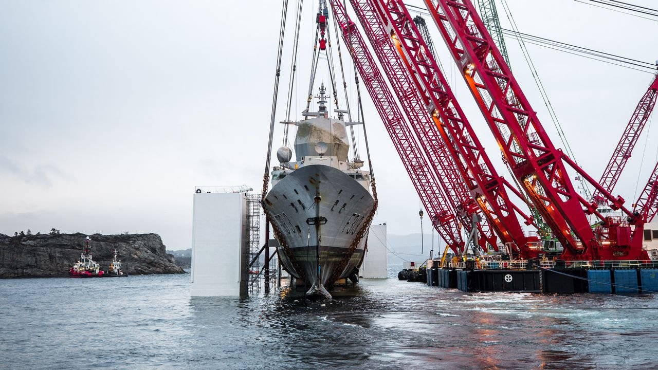 Norway Culminates the Refloating of the Frigate Built in Ferrol