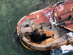 Coast Guard responds to barge fire offshore of Port Aransas, Texas