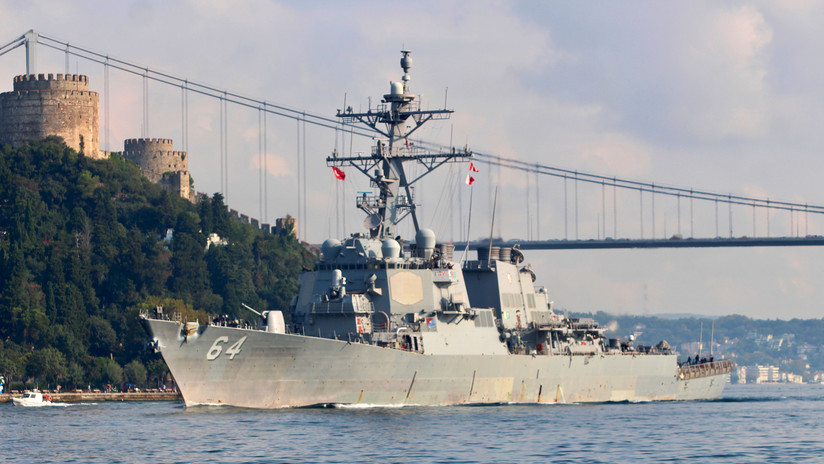 Russian Military Forces Guard US Destroyer Carney After Entering The Black Sea