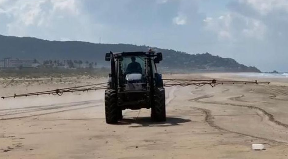 Spanish Elected Official Apologizes After Spraying Beach With Bleach