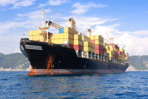 Spot container freight rates