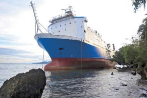 Super Shuttle Roro 5 aground