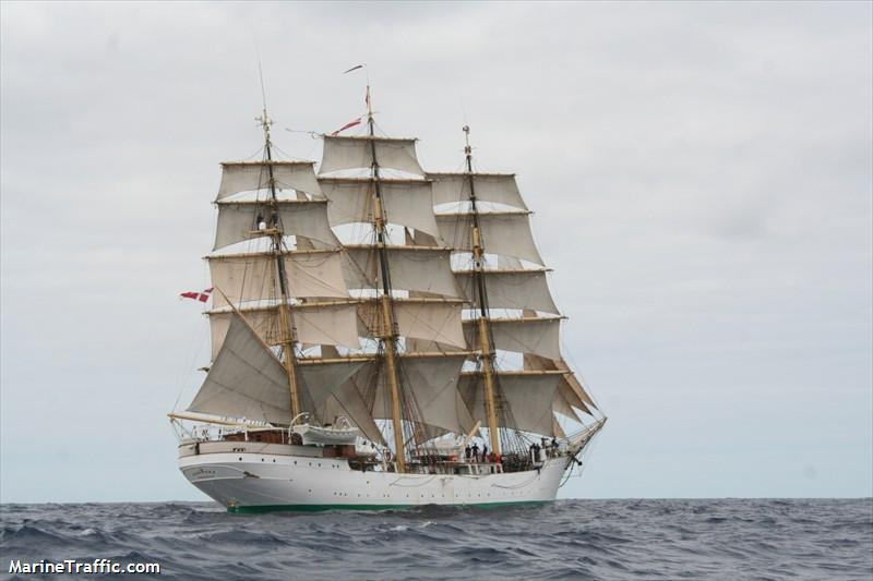 The Danish school ship Danmark