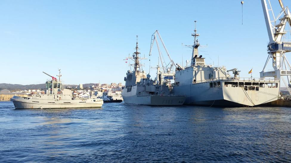 The Frigate Christopher Columbus is already in Glasgow (Scotland) to participate in the exercise Joint Warrior 1912