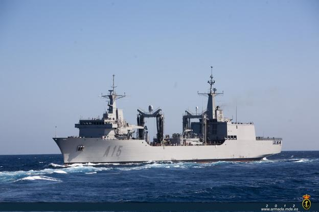 The Supply Ship in Combat 'Cantabria' Sails More Than 12,000 Miles in its Deployment With NATO