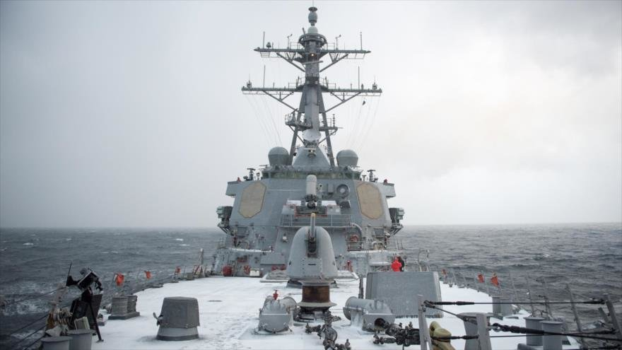 The US Guided Missile Destroyer Donald Cook It Enters the Ukrainian Region of Odessa, On the Black Sea, as a Sign of Support for Ukraine Against Russia.