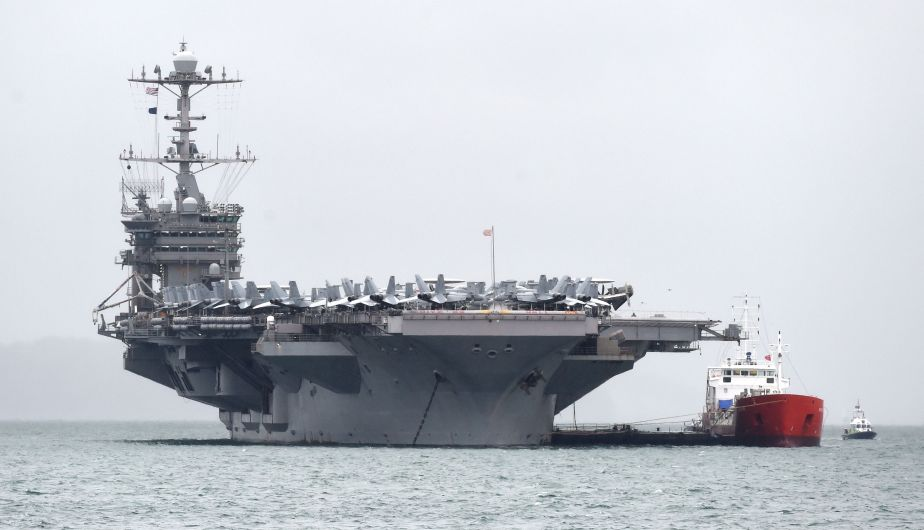 The USS Aircraft Carrier Harry S. Truman Arrived in the United Kingdom