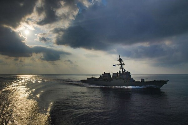 The USS Halsey guided missile destroyer