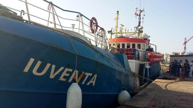 The ship Iuventa of the German NGO Jungend Rettet