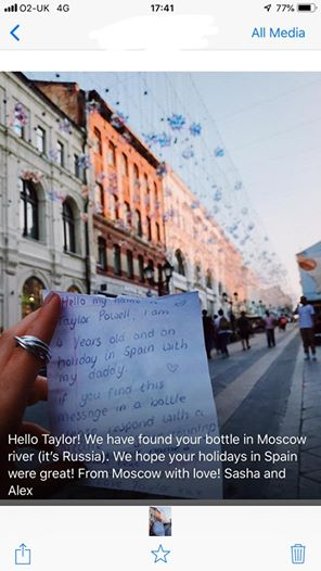 They Found A Message In A Bottle In Moscow That Was Thrown In The Sea From Spain By A Young Girl