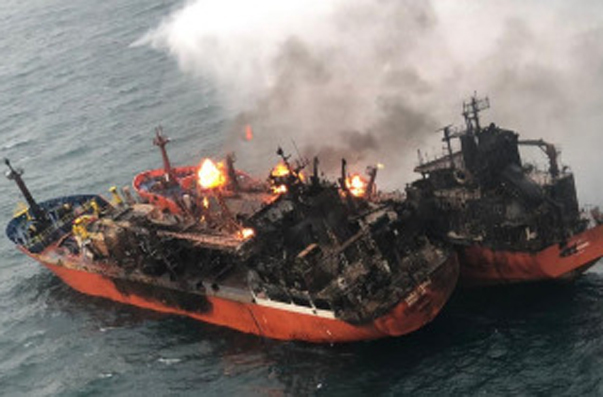 Threats of Oil Spill in the Black Sea, Where Tankers Burn