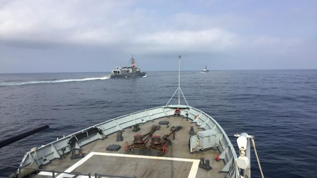 Two Japanese Ships Are Trained with the Patrol Vessel 'Vigia' in Spanish Waters
