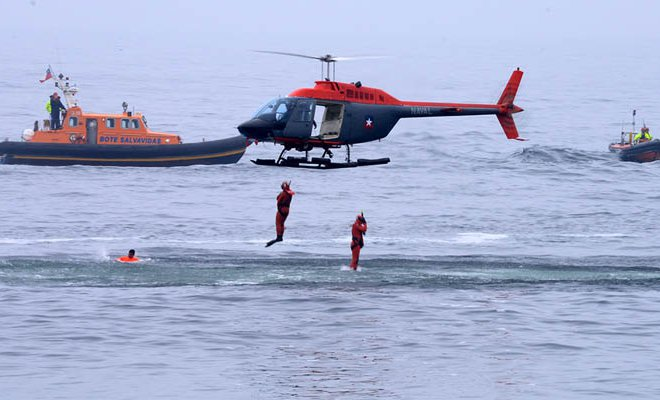 Two Surfers Dragged by Current Rescued in Ritoque Chile