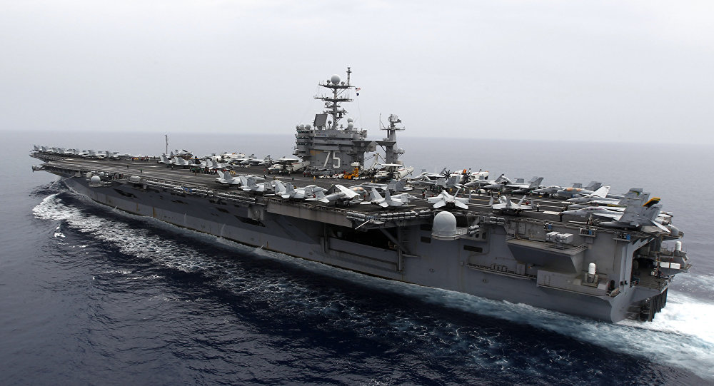 US Navy aircraft carrier attack groups