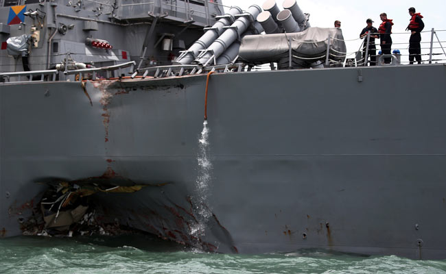 US Navy ship Collision