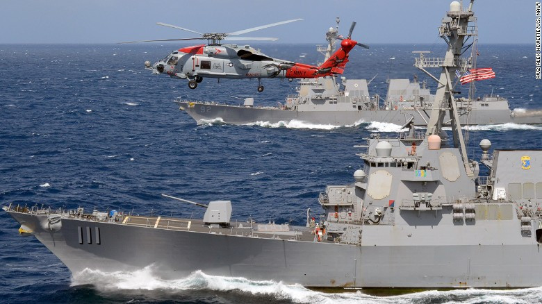 US Warships Defy China