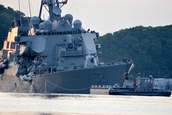 Big questions in United States warship's collision with container ship