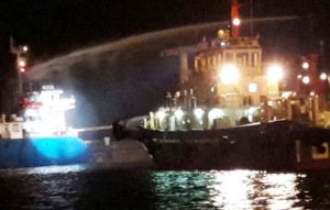 VTB 36 ship fire