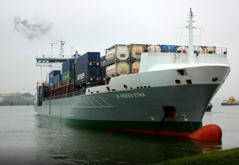 Container ship X-Press Etna aground in Port of Rotterdam | Maritime