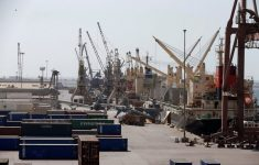 The Arabian Coalition has Passed Cranes for the Discharge of Humanitarian Aid to the Yemen Port