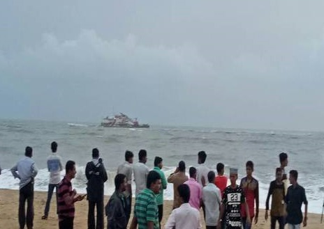 Karnataka: Indian Coast Guard rescues 27 workers from flooded barge
