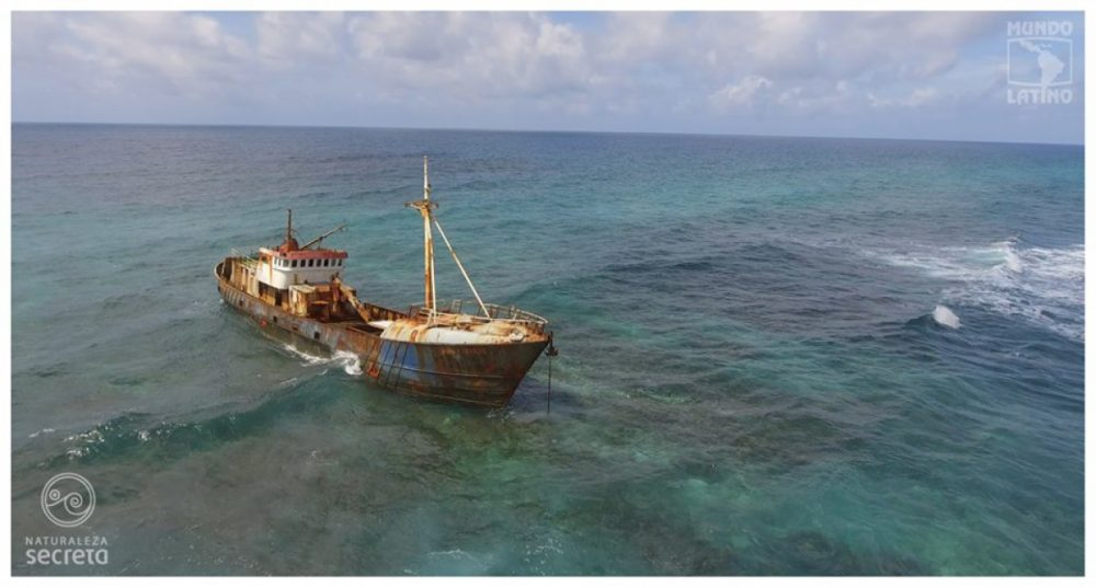 ghost ship stranded on the Cuban reef