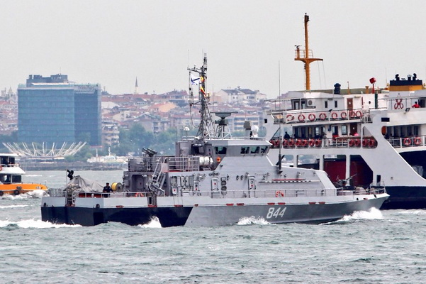 A Counter-Sabotage Ship of the Russian Navy Headed for Syria